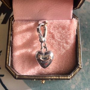Juicy Couture Silver Puffy Heart Rare Logo Charm